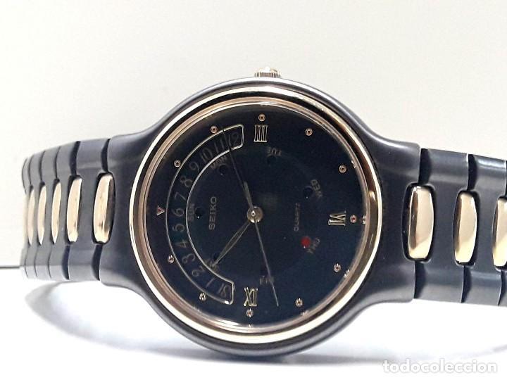 Relojes - Seiko: PRECIOSO RELOJ SEIKO BICOLOR AÑOS 80 DE CUARZO Y NUEVO - Foto 6 - 184042041