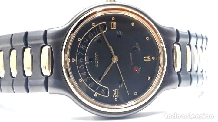 Relojes - Seiko: PRECIOSO RELOJ SEIKO BICOLOR AÑOS 80 DE CUARZO Y NUEVO - Foto 7 - 184042041