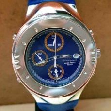 Relojes - Seiko: RELOJ SEIKO CRONOGRAFO 7T32-6L10, MACCHINA SPORTIVA GIUGIARO DESING, VINTAGE, NOS (NEW OLD STOCK). Lote 184453302