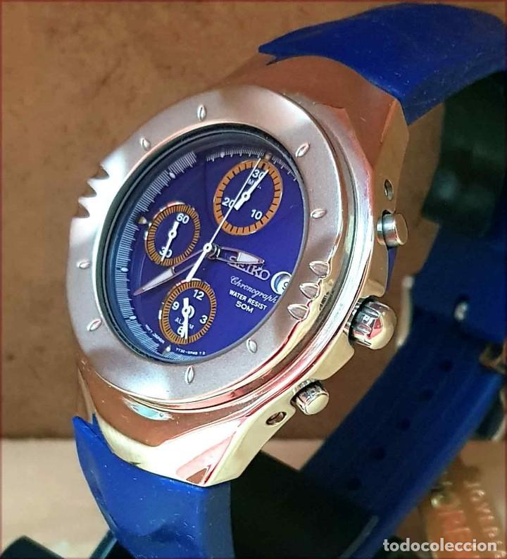 Relojes - Seiko: RELOJ SEIKO cronografo 7T32-6L10, MACCHINA SPORTIVA GIUGIARO DESING, VINTAGE, NOS (new old stock) - Foto 3 - 184453302