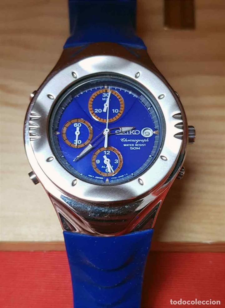 Relojes - Seiko: RELOJ SEIKO cronografo 7T32-6L10, MACCHINA SPORTIVA GIUGIARO DESING, VINTAGE, NOS (new old stock) - Foto 6 - 184453302