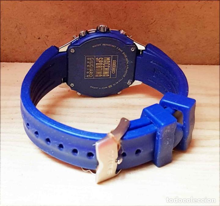 Relojes - Seiko: RELOJ SEIKO cronografo 7T32-6L10, MACCHINA SPORTIVA GIUGIARO DESING, VINTAGE, NOS (new old stock) - Foto 7 - 184453302