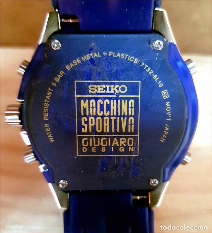 Relojes - Seiko: RELOJ SEIKO cronografo 7T32-6L10, MACCHINA SPORTIVA GIUGIARO DESING, VINTAGE, NOS (new old stock) - Foto 8 - 184453302
