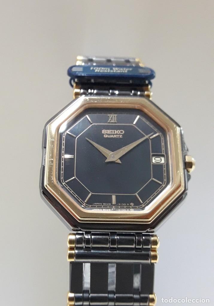Relojes - Seiko: ELEGANTE RELOJ SEIKO CUARZO AÑOS 80 TOTALMENTE NUEVO NOS. - Foto 3 - 184558495