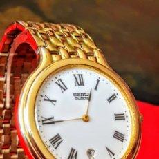Relojes - Seiko: RELOJ SEIKO CALENDARIO CUARZO MUY NUEVO FUNCIONA PERFECTAMENTE DIÁMETRO 35MILIMTROS. Lote 184702910