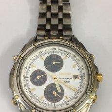 Relojes - Seiko: RELOJ SEIKO CHRONOGRAPH SQ 100 TITANIUM CRISTAL DE ZAFIRO MODELO 7T32-F080 AO VINTAGE. Lote 186328016