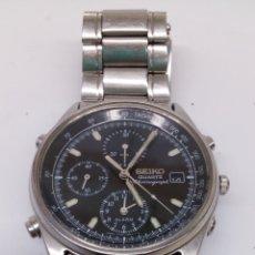 Relojes - Seiko: RELOJ SEIKO QUARTZ CHRONOGRAPH ESFERA TACHIMER CORREA ORIGINAL. Lote 187306665
