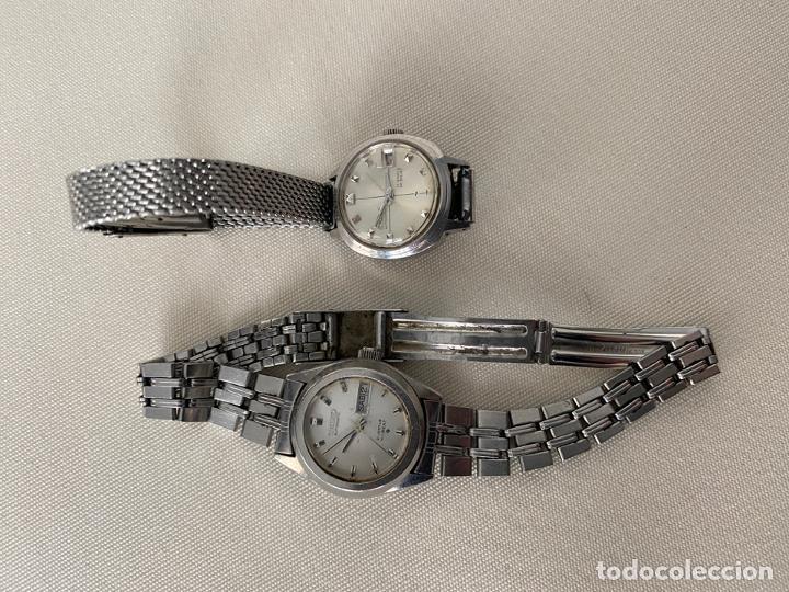 LOTE DE 2 RELOJES SEIKO AUTOMATICOS , HI BEAT DE SEÑORA (Relojes - Relojes Actuales - Seiko)