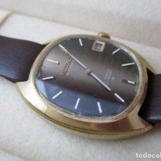 Relojes - Seiko: EXCELENTE SEIKO FORMAL AUTOMATICO CON CAJA DE CAOBA ORIGINAL. Lote 188659601