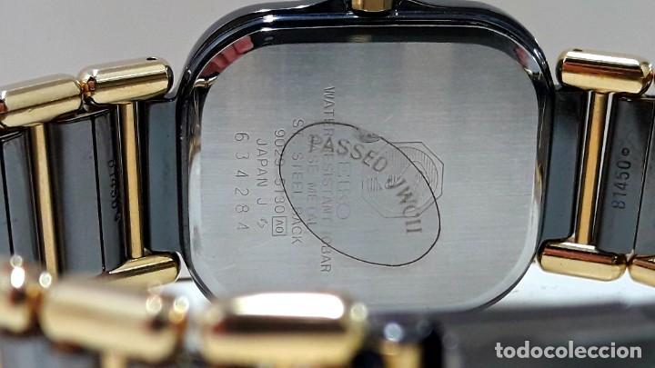 Relojes - Seiko: ELEGANTE RELOJ SEIKO SQ100 AÑOS 80 CHAPADO EN ORO BICOLOR DE CUARZO Y NUEVO - Foto 5 - 189766585
