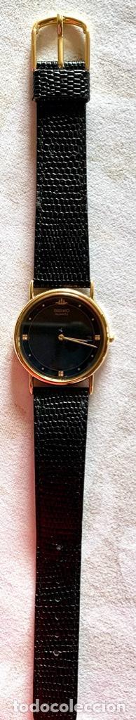 Relojes - Seiko: RELOJ DE PULSERA SEIKO QUARTZ, ESFERA NEGRA, CORREA NEGRA, NUEVO, PROCEDENTE STOCK RELOJERÍA - Foto 2 - 189830253