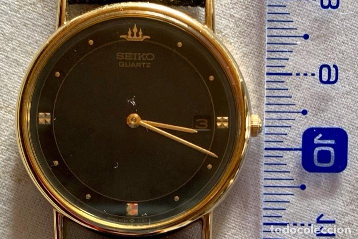 Relojes - Seiko: RELOJ DE PULSERA SEIKO QUARTZ, ESFERA NEGRA, CORREA NEGRA, NUEVO, PROCEDENTE STOCK RELOJERÍA - Foto 5 - 189830253