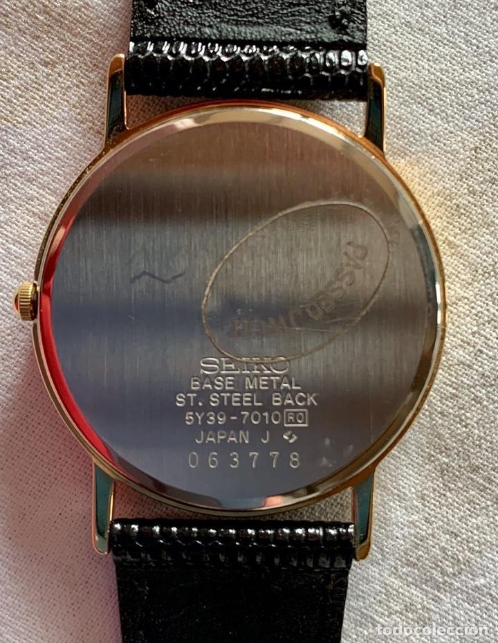 Relojes - Seiko: RELOJ DE PULSERA SEIKO QUARTZ, ESFERA NEGRA, CORREA NEGRA, NUEVO, PROCEDENTE STOCK RELOJERÍA - Foto 7 - 189830253