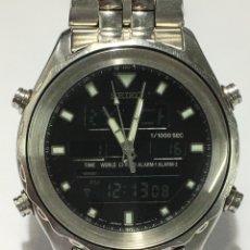 Relojes - Seiko: SEIKO - ANALOG DIGITAL WORLDTIME CHRONOGRAPH - H021-7001 - HOMBRE - 1990 - 1999. Lote 190748756