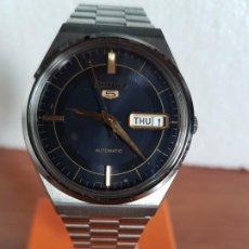 Relojes - Seiko: RELOJ DE CABALLERO (VINTAGE) SEIKO AUTOMÁTICO 17 RUBIS CON DOBLE CALENDARIO A LAS TRES CALIBRE 7009A. Lote 190812668