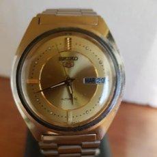 Relojes - Seiko: RELOJ DE CABALLERO (VINTAGE) SEIKO AUTOMÁTICO 21 RUBIS CON DOBLE CALENDARIO A LAS TRES CALIBRE 7009A. Lote 191038582