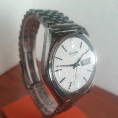 Relojes - Seiko: RELOJ CABALLERO (VINTAGE) SEIKO AUTOMÁTICO CON DOBLE CALENDARIO LAS TRES CALIBRE 6309A CORREA ACERO. Lote 191108941