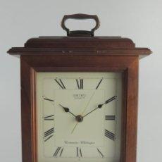 Relojes - Seiko: VINTAGE RELOJ SEIKO WESTMINSTER SOBREMESA DE MADERA . Lote 191138410
