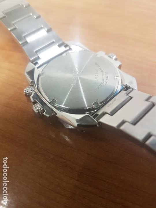 Relojes - Seiko: Reloj caballero de cuarzo acero marca SEIKO con calendario perpetuo, esfera azul, correa acero origi - Foto 20 - 191525602