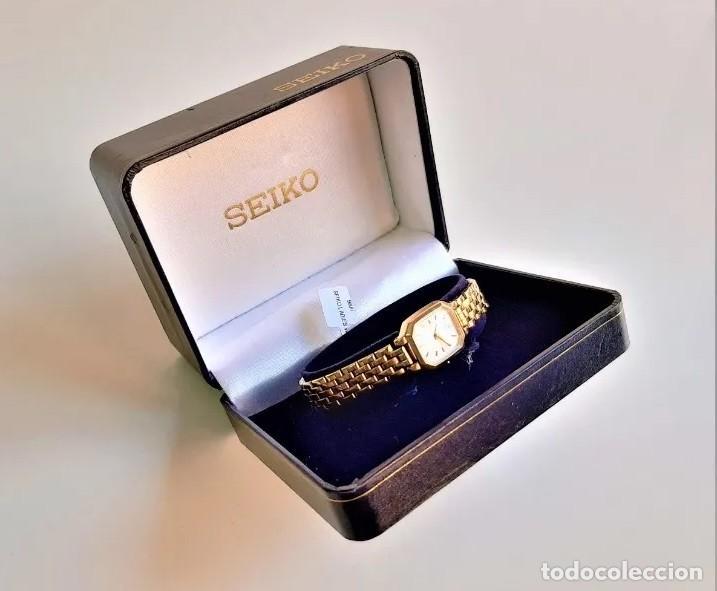 RELOJ SEIKO QUARZ FOR LADY, MODELO V400, BAÑO DORADO (Relojes - Relojes Actuales - Seiko)