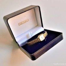 Relojes - Seiko: RELOJ SEIKO QUARZ FOR LADY, MODELO V400, BAÑO DORADO. Lote 193026306
