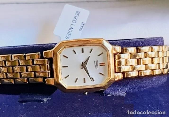 Relojes - Seiko: RELOJ SEIKO QUARZ FOR LADY, MODELO V400, BAÑO DORADO - Foto 3 - 193026306
