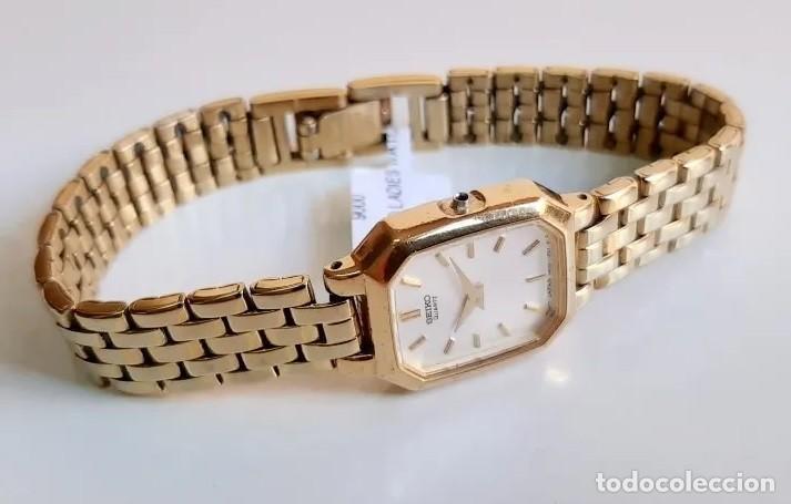 Relojes - Seiko: RELOJ SEIKO QUARZ FOR LADY, MODELO V400, BAÑO DORADO - Foto 4 - 193026306
