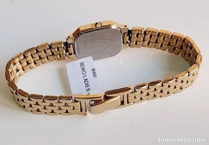 Relojes - Seiko: RELOJ SEIKO QUARZ FOR LADY, MODELO V400, BAÑO DORADO - Foto 5 - 193026306