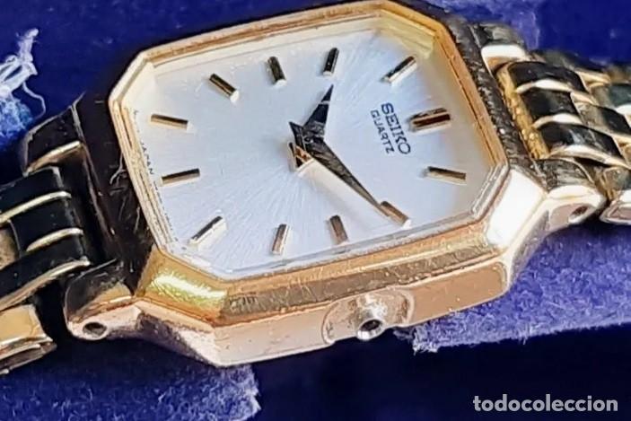 Relojes - Seiko: RELOJ SEIKO QUARZ FOR LADY, MODELO V400, BAÑO DORADO - Foto 7 - 193026306
