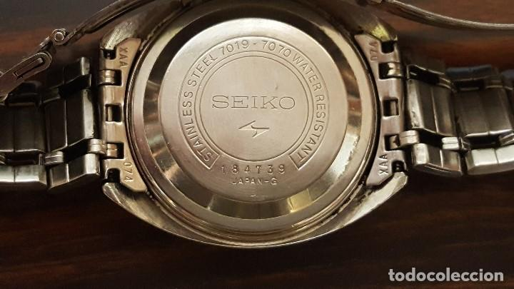 "Relojes - Seiko: RELOJ ""SEIKO 5ACTUS"". 21 JEWELS. 7019-7070. WATER RESISTANT. STAINLESS STEEL. 184739. MADE JAPAN. - Foto 3 - 193316616"