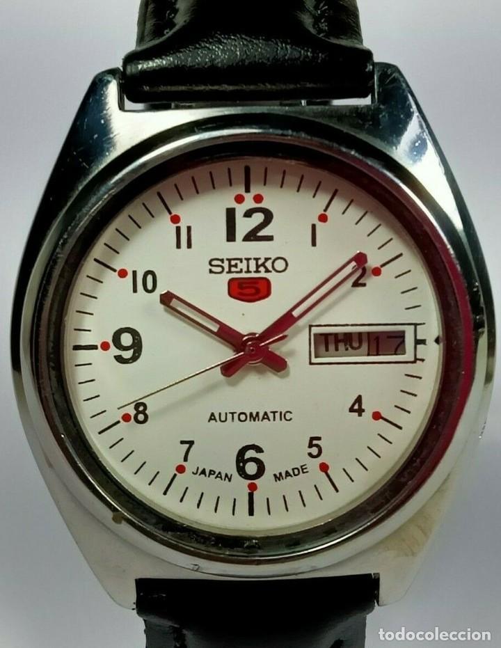 VINTAGE SEIKO 5 MOVIMIENTO AUTOMÁTICO, RELOJ ANALÓGICO CON DIAL DE FECHA Y DÍA (Relojes - Relojes Actuales - Seiko)