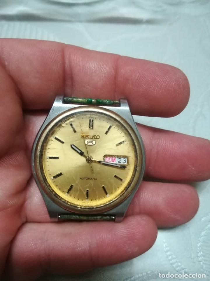Relojes - Seiko: RELOJ SEIKO 5 AUTOMATIC CABALLERO FUNCIONANDO MIREN FOTOS - Foto 2 - 195051462