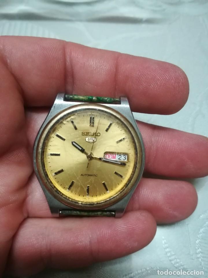 Relojes - Seiko: RELOJ SEIKO 5 AUTOMATIC CABALLERO FUNCIONANDO MIREN FOTOS - Foto 4 - 195051462