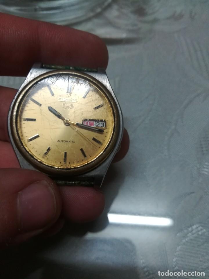 Relojes - Seiko: RELOJ SEIKO 5 AUTOMATIC CABALLERO FUNCIONANDO MIREN FOTOS - Foto 5 - 195051462