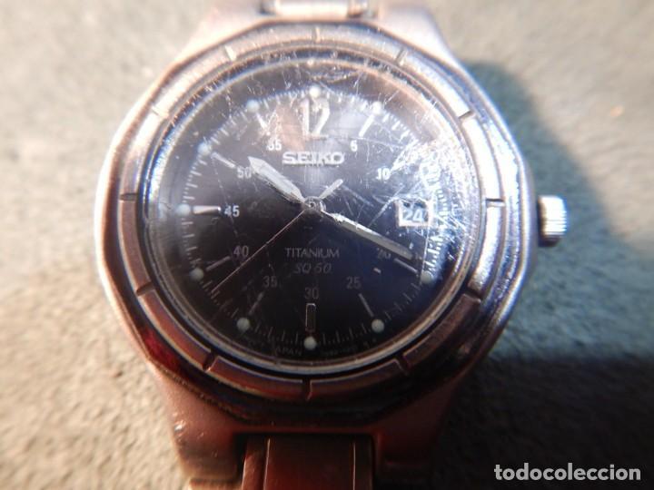 Relojes - Seiko: Seiko titanium Sq 50 - Foto 8 - 195369198