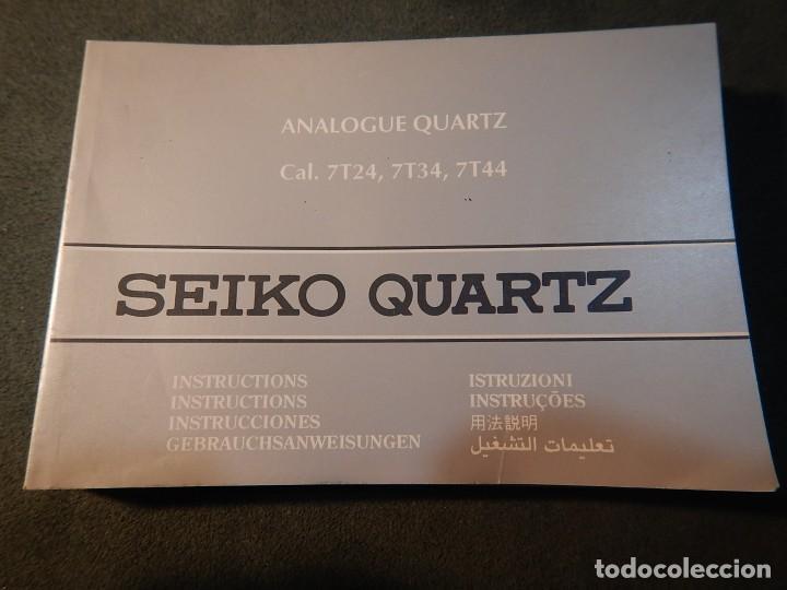 MANUAL INSTRUCCIONES (Relojes - Relojes Actuales - Seiko)