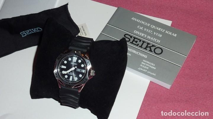 Relojes - Seiko: Seiko Solar Scuba Diver Sports SNE107P2 200 metros sumergible. Ecológico. NUEVO A ESTRENAR - Foto 14 - 196002070