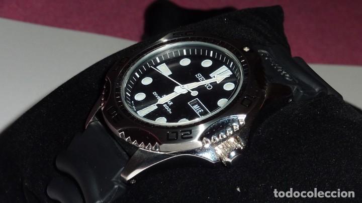 Relojes - Seiko: Seiko Solar Scuba Diver Sports SNE107P2 200 metros sumergible. Ecológico. NUEVO A ESTRENAR - Foto 5 - 196002070