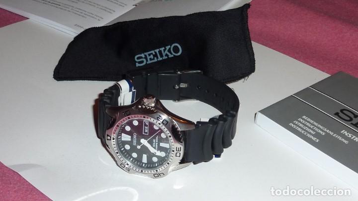 Relojes - Seiko: Seiko Solar Scuba Diver Sports SNE107P2 200 metros sumergible. Ecológico. NUEVO A ESTRENAR - Foto 11 - 196002070