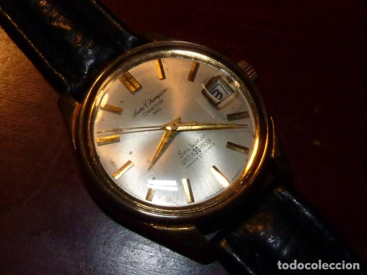 Relojes - Seiko: ELEGANTE SEIKO SEA HORSE DE 1964 CHAMPION CALENDAR 860 DIASHOCK 17 RUBIS SEIKOSHA 7622 CUERDA MANUAL - Foto 2 - 196662661