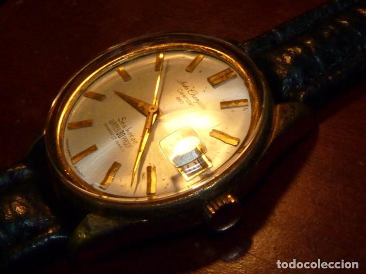 Relojes - Seiko: ELEGANTE SEIKO SEA HORSE DE 1964 CHAMPION CALENDAR 860 DIASHOCK 17 RUBIS SEIKOSHA 7622 CUERDA MANUAL - Foto 3 - 196662661