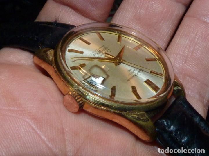 Relojes - Seiko: ELEGANTE SEIKO SEA HORSE DE 1964 CHAMPION CALENDAR 860 DIASHOCK 17 RUBIS SEIKOSHA 7622 CUERDA MANUAL - Foto 5 - 196662661