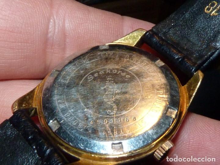 Relojes - Seiko: ELEGANTE SEIKO SEA HORSE DE 1964 CHAMPION CALENDAR 860 DIASHOCK 17 RUBIS SEIKOSHA 7622 CUERDA MANUAL - Foto 6 - 196662661