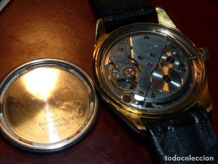 Relojes - Seiko: ELEGANTE SEIKO SEA HORSE DE 1964 CHAMPION CALENDAR 860 DIASHOCK 17 RUBIS SEIKOSHA 7622 CUERDA MANUAL - Foto 7 - 196662661