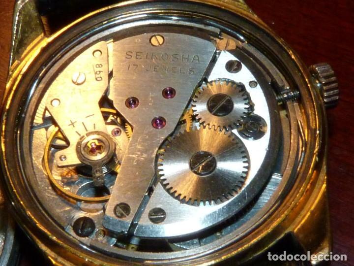 Relojes - Seiko: ELEGANTE SEIKO SEA HORSE DE 1964 CHAMPION CALENDAR 860 DIASHOCK 17 RUBIS SEIKOSHA 7622 CUERDA MANUAL - Foto 9 - 196662661