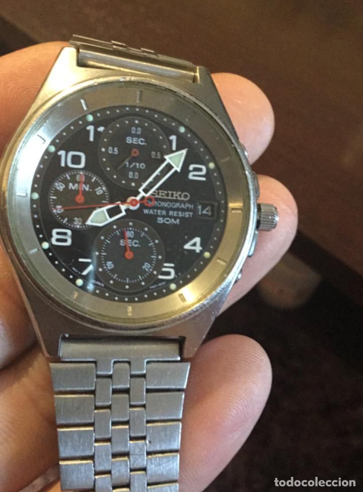 Relojes - Seiko: Fabuloso reloj Seiko cronografo gran diámetro - Foto 3 - 198282216