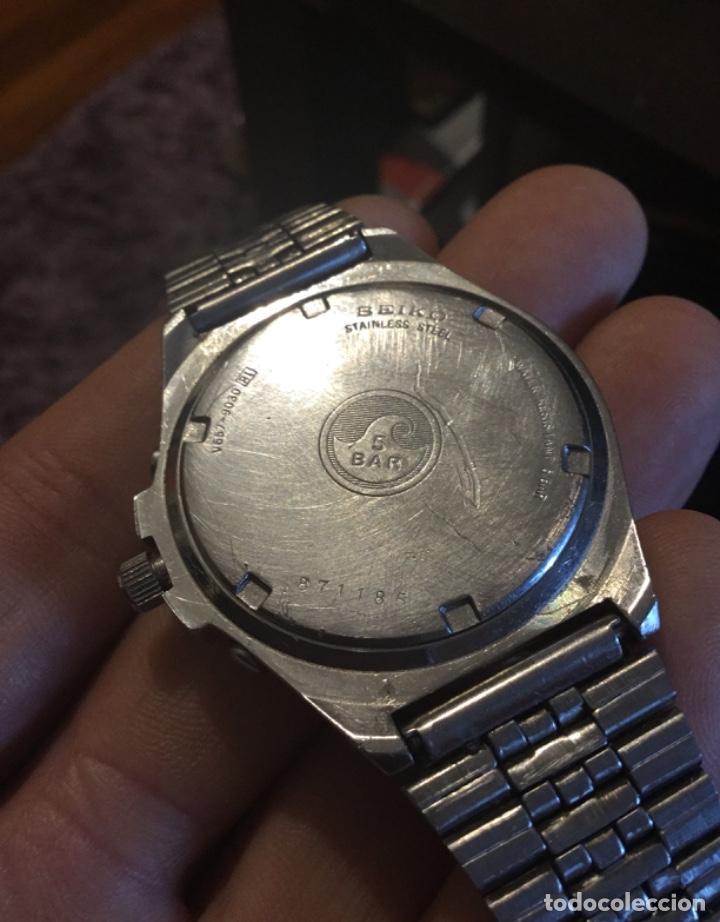 Relojes - Seiko: Fabuloso reloj Seiko cronografo gran diámetro - Foto 9 - 198282216