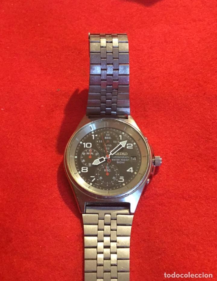 Relojes - Seiko: Fabuloso reloj Seiko cronografo gran diámetro - Foto 13 - 198282216