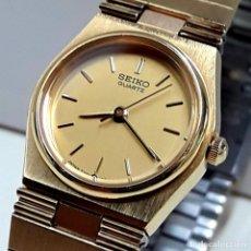 Relojes - Seiko: RELOJ SEIKO DE SEÑORA CHAPADO EN ORO AÑOS 80 DE CUARZO CALIBRE 7321 Y NUEVO. Lote 204397176