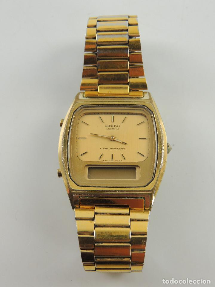 VINTAGE RELOJ DE PULSERA MARCA SEIKO QUARTZ ALARM CHRONOGRAPH JAPON (Relojes - Relojes Actuales - Seiko)